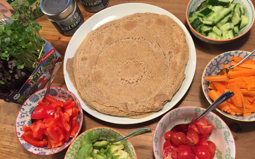Buchweizen-Pfannkuchen oder Wraps