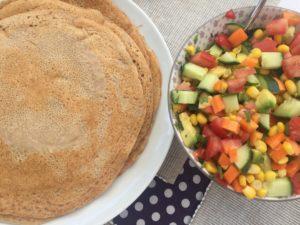 Buchweizenpfannkuchen Wrap
