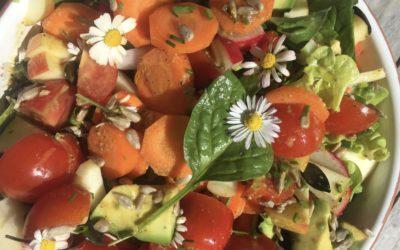 Fröhlicher Frühlingssalat