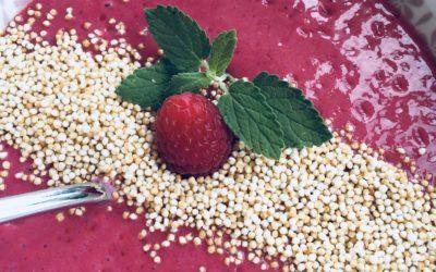 Himbeer-Bananen-Shake für Frühstücks-Bowl